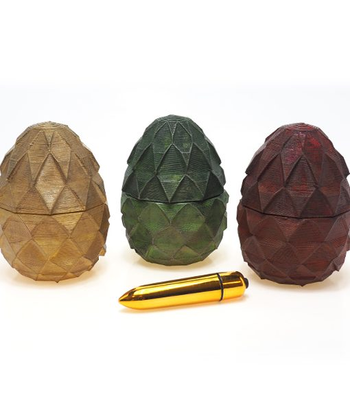 Want to surprise your partner? You could get a dragon egg storage case for her vibrator!